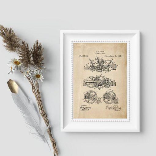 Plakat do gabinetu z patentem z 1885r.