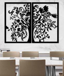 Ażurowa dekoracja ścienna - etniczne drzewko