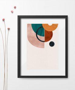 Plakat z figurami geometrycznymi