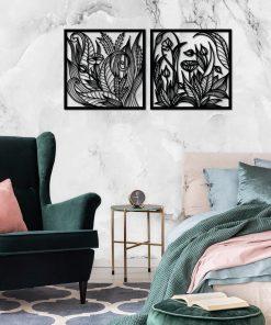 Trójwymiarowa dekoracja z polnymi kwiatami