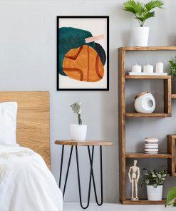 Artystyczny plakat z plamami do sypialni