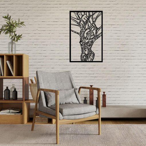 Obraz 3d z kobiecym ciałem jako drzewo
