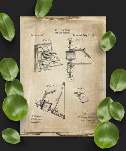 Plakat do gabinetu z camera obscura - schemat