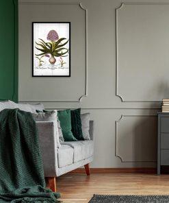 Hiacynt na deskach - Plakat botaniczny do sypialni