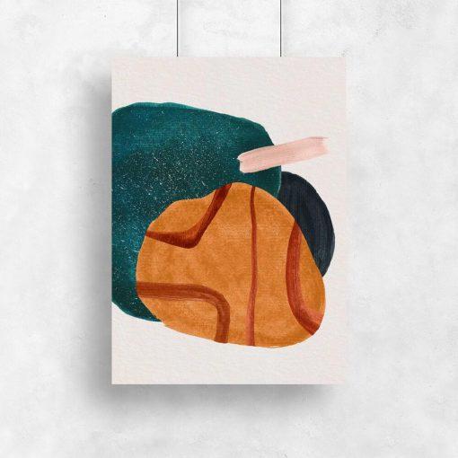 Artystyczny plakat z plamami do jadalni