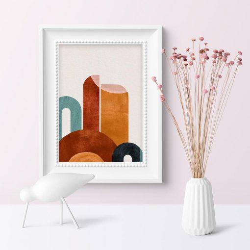 Plakat z abstrakcją do dekoracji poczekalni