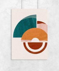 Plakat z formami geometrycznymi do ozdoby poczekalni