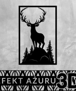 Jeleń - dekoracja trójwymiarowa
