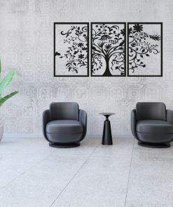 Zestaw trzech plakatów 3d w etnicznym stylu