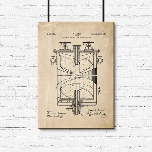 Schemat kuchenki gazowej na plakacie