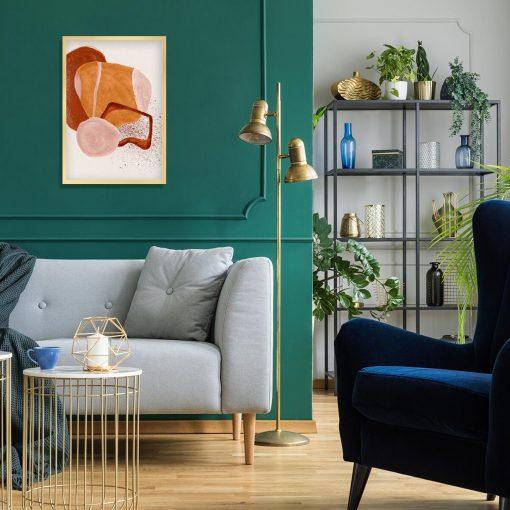 Abstrakcyjny plakat z plamami do sypialni