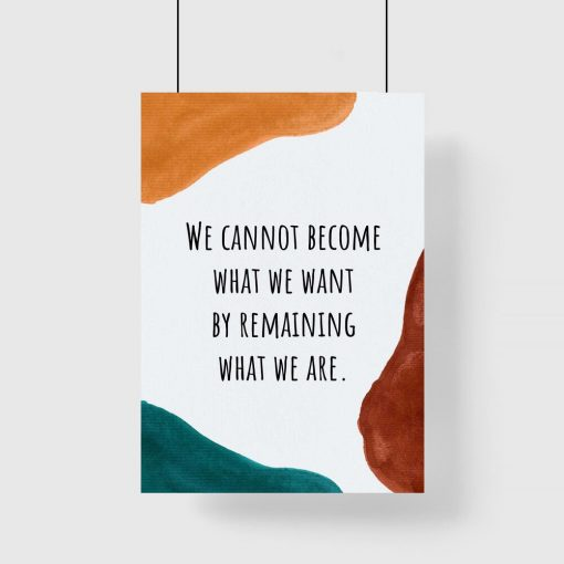 Plakat z napisem po angielsku o byciu sobą dla młodzieży