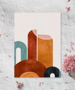 Plakat z abstrakcyjnymi kształtami