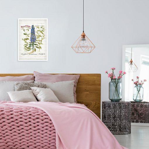 Edukacyjny plakat z polnymi kwiatami do sypialni
