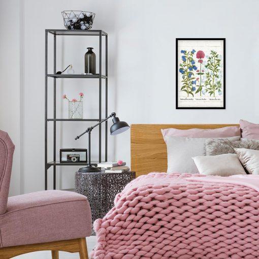 Edukacyjny poster z białym dzwonkiem ogrodowym do sypialni