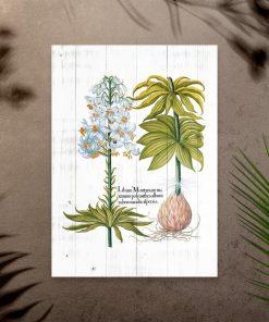 Plakat rustykalny z kwiatami