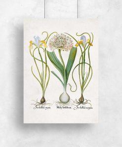 Plakat w pastelach z kwiatami