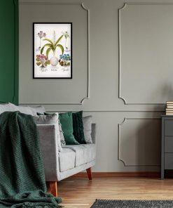 Plakat z kwiatami - Krokus do sypialni