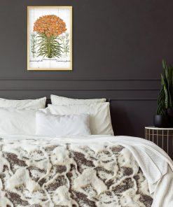 Plakat z lilią do sypialni