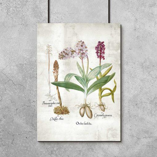 Plakat z małymi kwiatkami