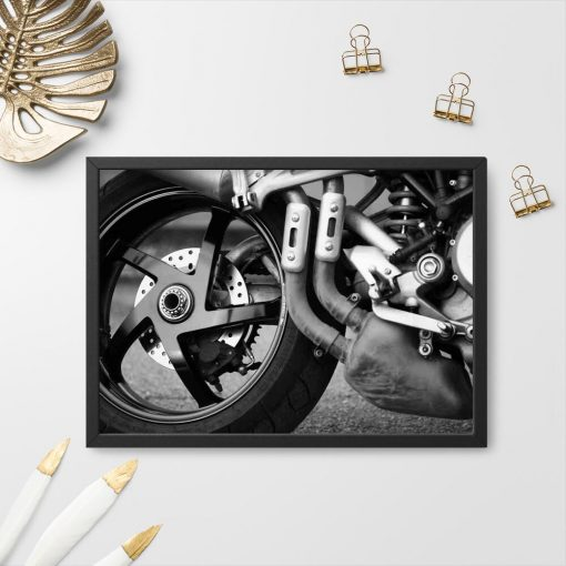 Plakat z motorem do garażu