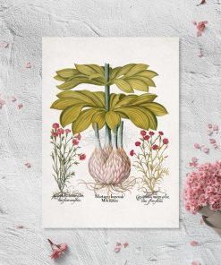 Plakat z motywem byliny kwiatowej