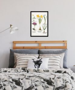 Plakat z żółtym żonkilem do sypialni