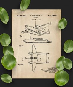 Plakat 2-kadłubowy samolot