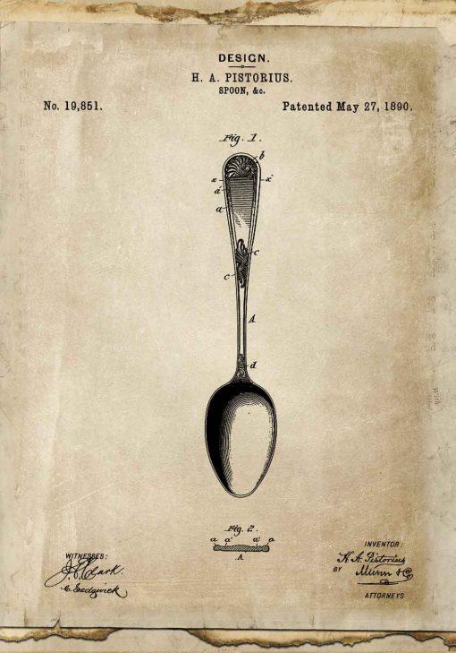 Plakat dla kucharza - Patent na łyżkę do gabinetu