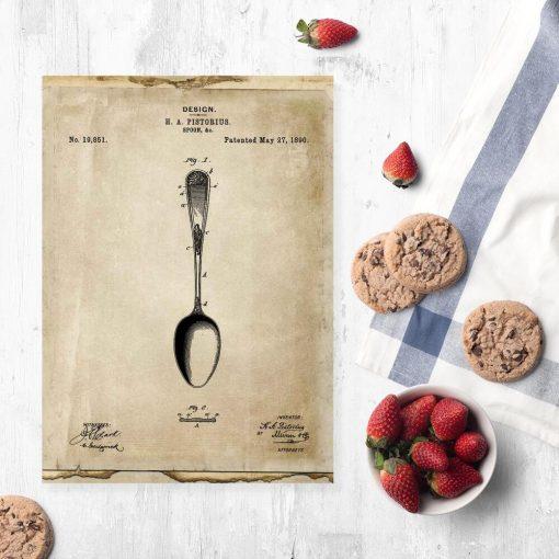 Plakat dla kucharza - Patent na łyżkę do jadalni