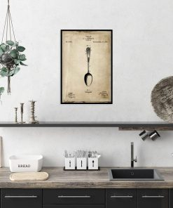 Plakat dla kucharza - Patent na łyżkę do kuchni