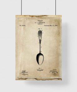 Plakat dla kucharza - Patent na łyżkę do restauracji