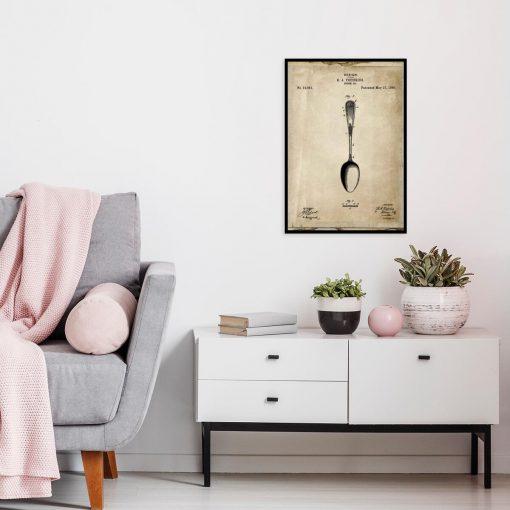 Plakat dla kucharza - Patent na łyżkę do salonu
