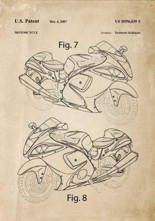Plakat dla miłośnika motoryzacji - Patent na motor do warsztatu