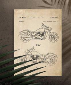 Plakat do garażu z motocyklem