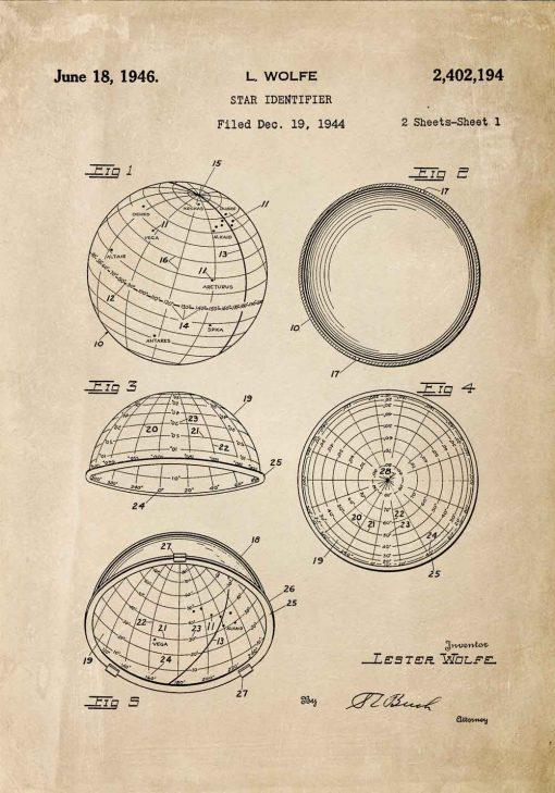Plakat do oprawienia z patentem z 1946r.