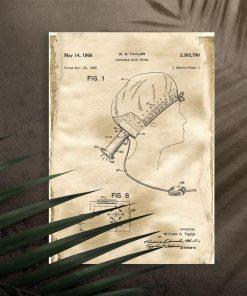 Plakat do salonu fryzjerskiego - Przenośna suszarka do włosów