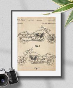 Plakat koncepcja japońskiego motocykla do oprawienia