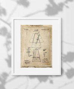 Plakat metronom - wynalazek z 1899r. do ozdobienia szkoły