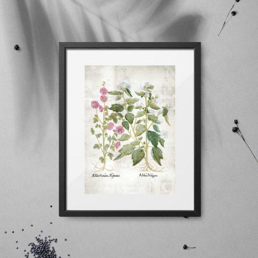 Plakat motywem kwiatów