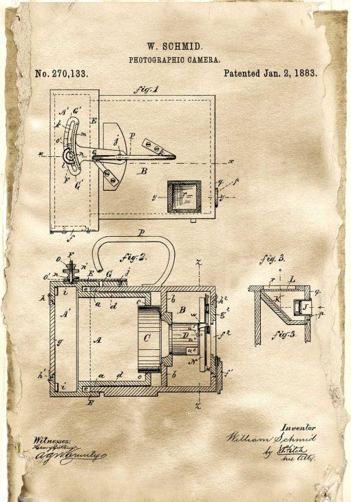 Plakat - Patent na aparat z 1883 roku