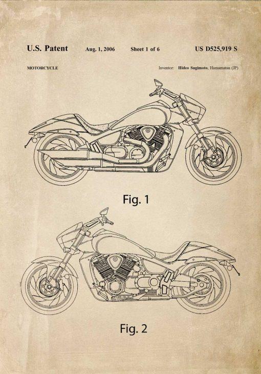 Plakat patent na motor