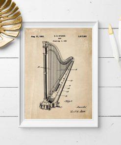Plakat retro z instrument muzyczny - patent z 1931r.
