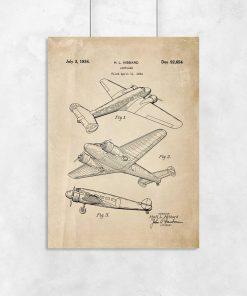 Plakat retro z samolotem