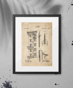 Plakat vintage z patentem z 1898r.