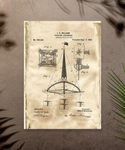 Plakat vintage z prototypem bojki morskiej