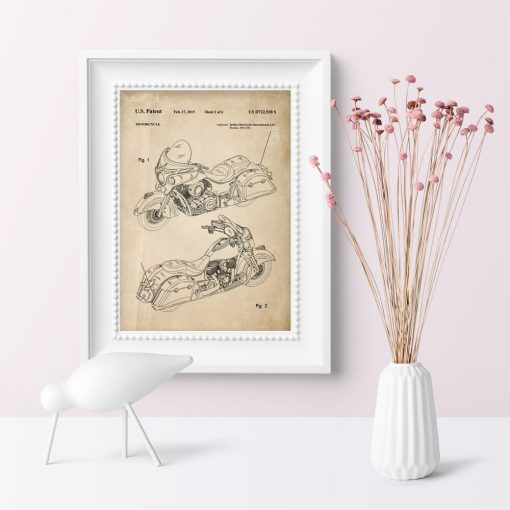 Plakat w stylu vintage - projekt motocykla