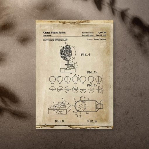 Plakat z aparaturą astronomiczną - patent 1989r.