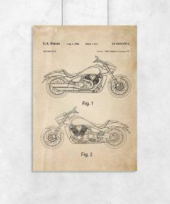 Plakat z certyfikatem budowy motocykla do oprawienia
