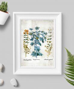 Plakat z drobnymi kwiatuszkami w stylu rustykalnym